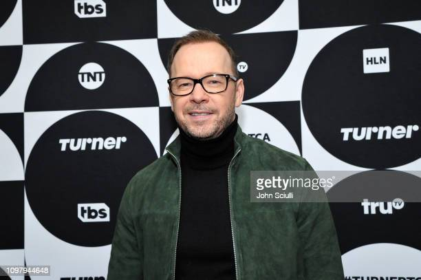 Donnie Wahlberg poses in the green room during the TCA Turner Winter Press Tour 2019 at The Langham Huntington Hotel and Spa on February 11, 2019 in...