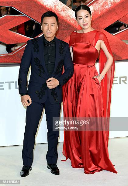 Donnie Yen and Cissy Wang attend the European premiere of xXx Return of Xander Cage' on January 10 2017 in London United Kingdom