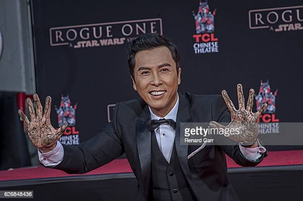 Donnie Yen attends Hand And Footprint Ceremony at TCL Chinese Theatre on November 30, 2016 in Hollywood, California.