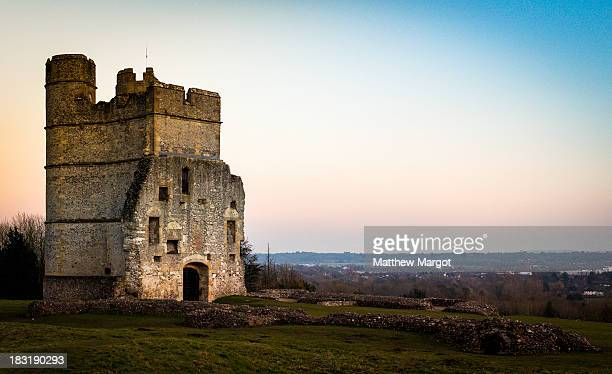 CONTENT] Donnington Castle as Sunset in Newbury Berkshire UK