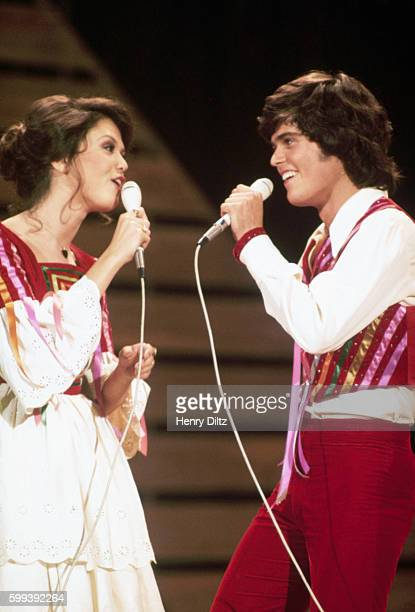 Donny and Marie Osmond at the filming of a television special