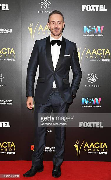 Donny Galella arrives ahead of the 6th AACTA Awards Presented by Foxtel at The Star on December 7 2016 in Sydney Australia