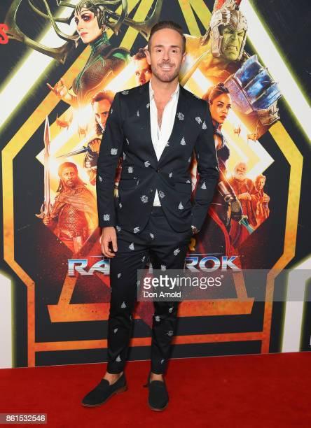 Donny Galella arrives for the premiere screening of Thor Ragnarok Sydney at Fox Studios on October 15 2017 in Sydney Australia