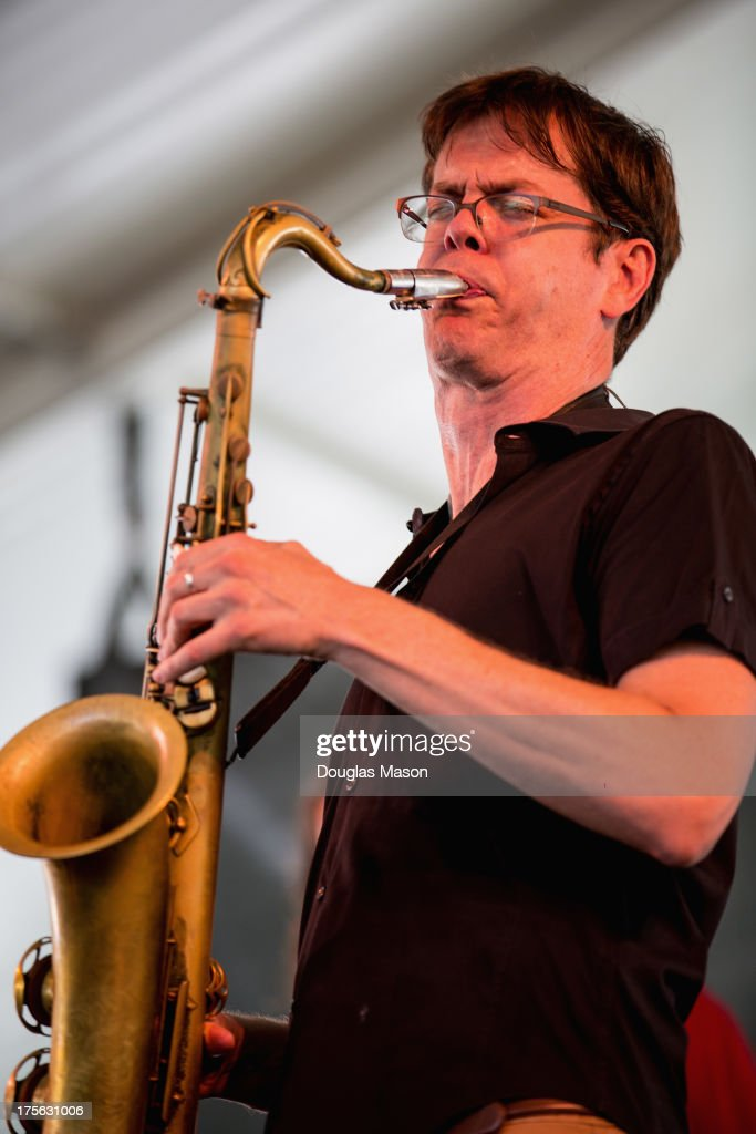 Donny McCaslin performs during the Newport Jazz Festival 2013 at Fort Adams State Park on August 4, 2013 in Newport, Rhode Island.