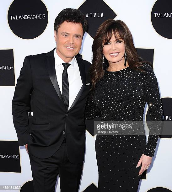 Donny Osmond and Marie Osmond attend the 2015 TV LAND Awards at Saban Theatre on April 11 2015 in Beverly Hills California