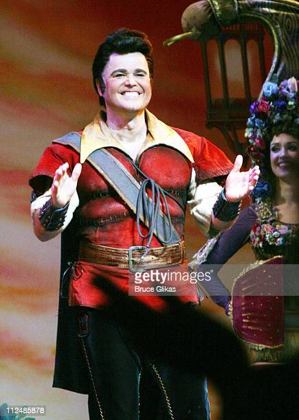 Donny Osmond during Donny Osmond's First Night in Disney's Beauty and the Beast at The LuntFontanne Theater in New York City New York United States