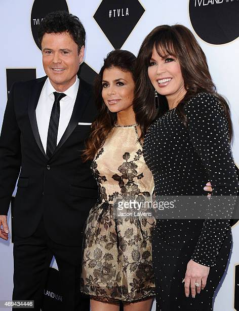 Donny Osmond Paula Abdul and Marie Osmond attend the 2015 TV LAND Awards at Saban Theatre on April 11 2015 in Beverly Hills California