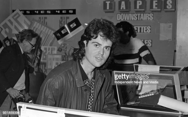 Donny Osmond signing autographs at the Virgin MegaStore in Tallaght Dublin circa October 1987