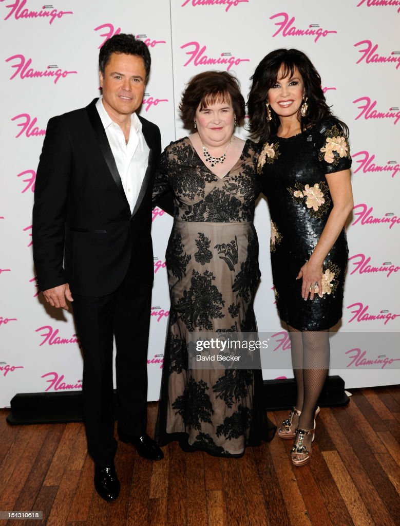 Susan Boyle Performs With Donny And Marie Osmond At Flamingo Las Vegas