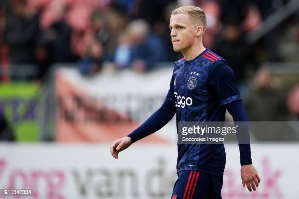 Donny van de Beek of Ajax disappointed during the Dutch Eredivisie match between FC Utrecht v Ajax at the Stadium Galgenwaard on January 28 2018 in...