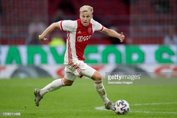 Donny van de Beek of Ajax during the Club Friendly match between Ajax v Hertha BSC at the Johan Cruijff Arena on August 25 2020 in Amsterdam...