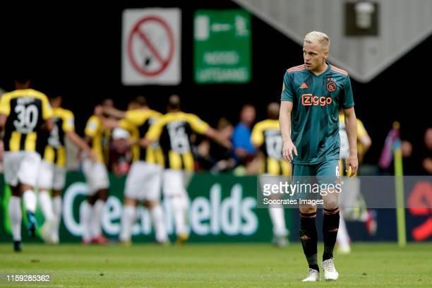 Donny van de Beek of Ajax during the Dutch Eredivisie match between Vitesse v Ajax at the GelreDome on August 3 2019 in Arnhem Netherlands