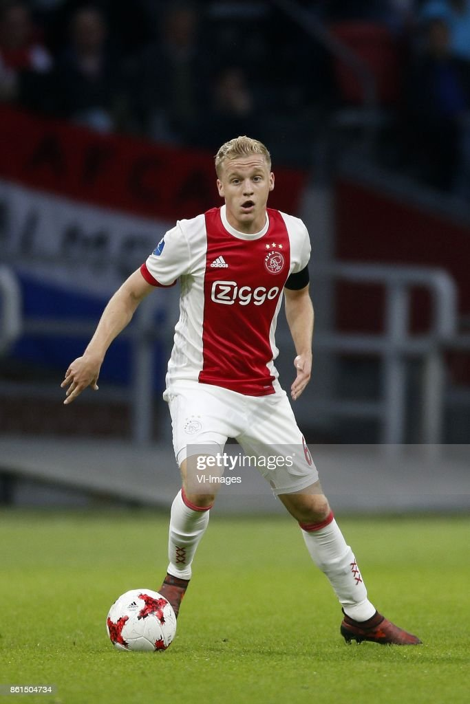 Donny van de Beek of Ajax during the Dutch Eredivisie match between Ajax Amsterdam and Sparta Rotterdam at the Amsterdam Arena on October 14, 2017 in Amsterdam, The Netherlands
