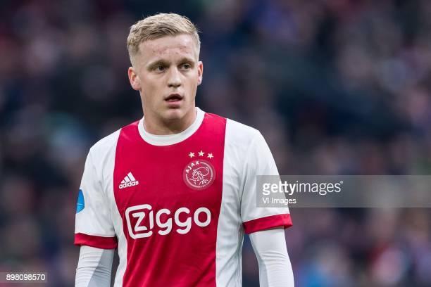 Donny van de Beek of Ajax during the Dutch Eredivisie match between Ajax Amsterdam and Willem II Tilburg at the Amsterdam Arena on December 24 2017...