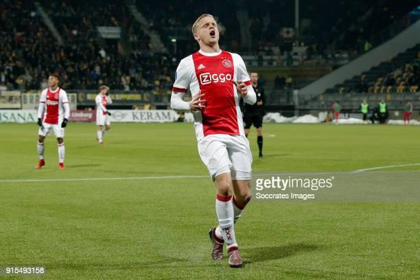Donny van de Beek of Ajax during the Dutch Eredivisie match between Roda JC v Ajax at the Parkstad Limburg Stadium on February 7 2018 in Kerkrade...
