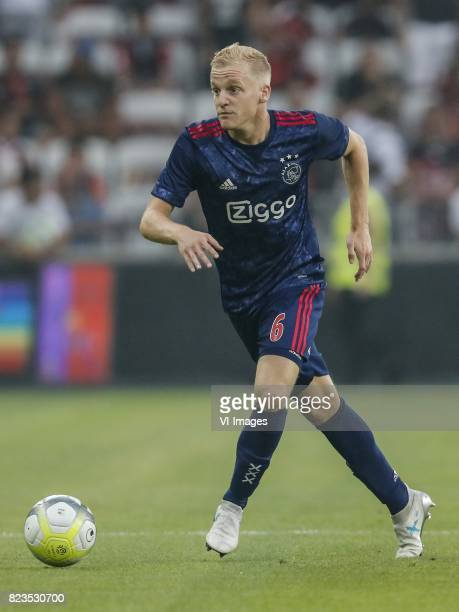 Donny van de Beek of Ajax during the UEFA Champions League third round qualifying first leg match between OGC Nice and Ajax Amsterdam on July 26 2017...