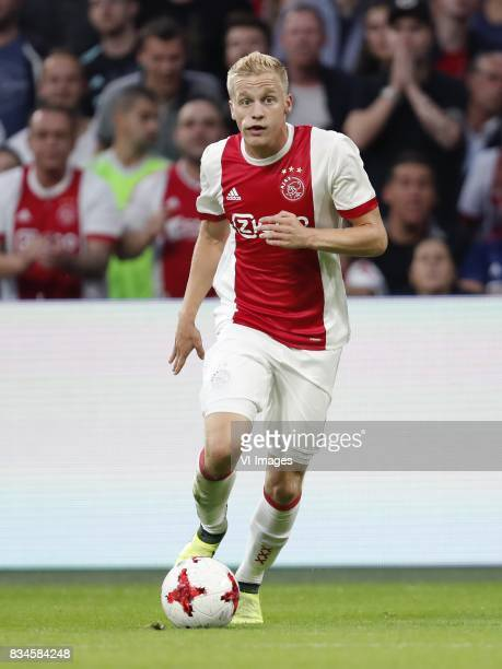Donny van de Beek of Ajax during the UEFA Europa League fourth round qualifying first leg match between Ajax Amsterdam and RosenBorg BK at the...