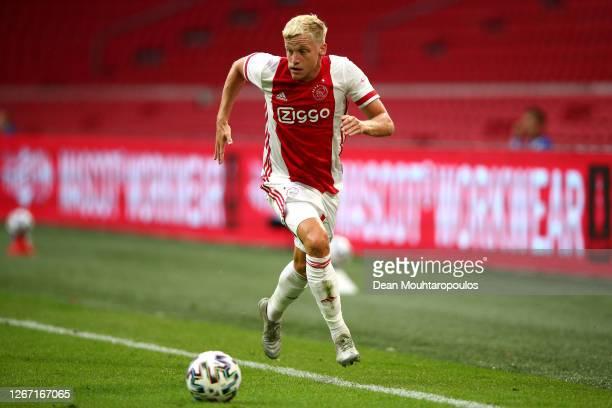 Donny van de Beek of Ajax in action during the pre-season friendly match between Ajax Amsterdam and RKC Waalwijk at Johan Cruijff Arena on August 08,...