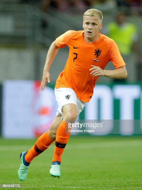 Donny van de Beek of Holland during the International Friendly match between Slovakia v Holland at the City Arena on May 31, 2018 in Trnava Slovakia