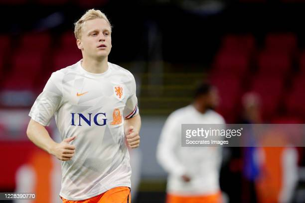 Donny van de Beek of Holland during the UEFA Nations league match between Holland v Italy on September 7, 2020