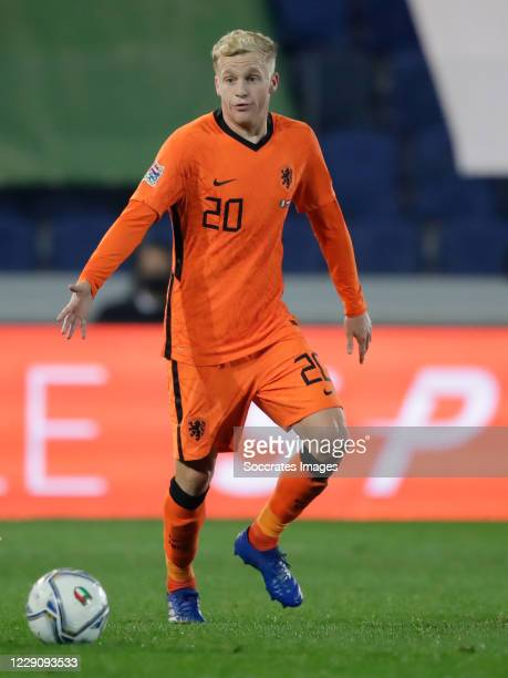 Donny van de Beek of Holland during the UEFA Nations league match between Italy v Holland on October 14 2020