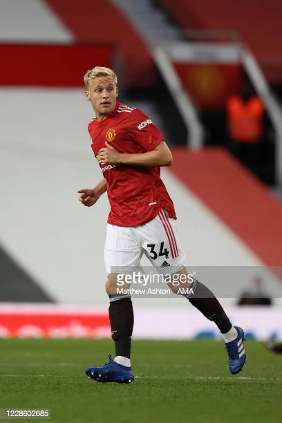 Donny van de Beek of Manchester United during the Premier League match between Manchester United and Crystal Palace at Old Trafford on September 19...