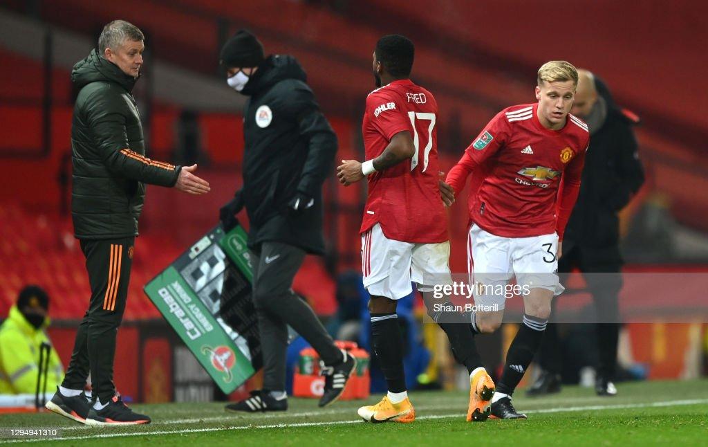 Manchester United v Manchester City - Carabao Cup Semi Final : ニュース写真