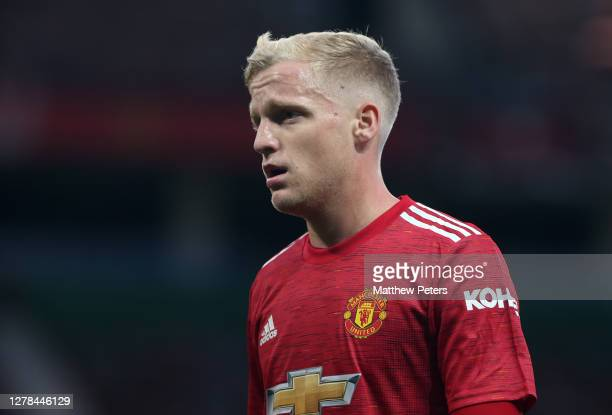 Donny van de Beek of Manchester United walks off after the Premier League match between Manchester United and Tottenham Hotspur at Old Trafford on...