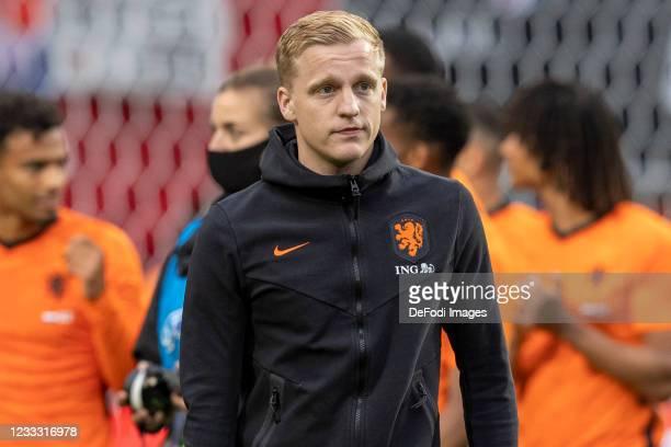 Donny van de Beek of Netherlands look dejected during the international friendly match between Netherlands and Georgia at De Grolsch Veste Stadium on...