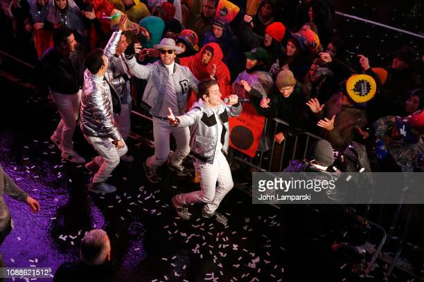 Donny Wahlberg Danny Wood Jordan Knight Jonathan Knight and Joey McIntyre of the New Kids on the Block perform during the Times Square New Year's Eve...