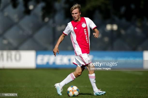 Donny Warmerdam of Ajax U19 during the match between Ajax U19 v Feyenoord U19 at the De Toekomst on August 31 2019 in Amsterdam Netherlands