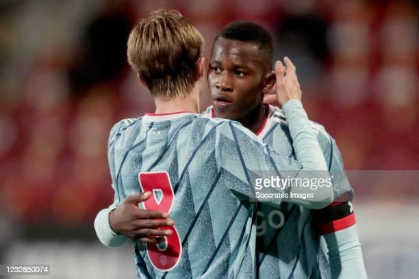 Donny Warmerdam of Ajax U23, Neraysho Kasanwirjo of Ajax U23 during the Dutch Keuken Kampioen Divisie match between Telstar v Ajax U23 at the...