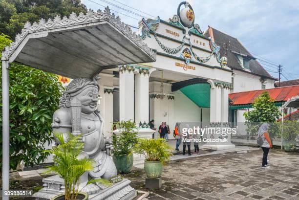 donopratono gate kraton sultan's palace yogyakarta - kraton stock pictures, royalty-free photos & images