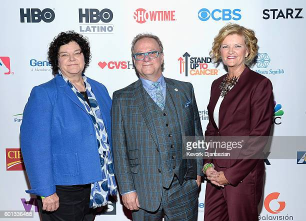 Donors Jane E Aubin Steve Robbins and Cindy Bell attend Hollywood Unites for the 5th Biennial Stand Up To Cancer A Program of The Entertainment...
