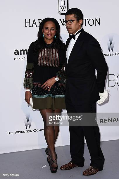 Donors Sindika Dokolo and Isabel dos Santos arrive at amfAR's 23rd Cinema Against AIDS Gala at Hotel du CapEdenRoc on May 19 2016 in Cap d'Antibes...