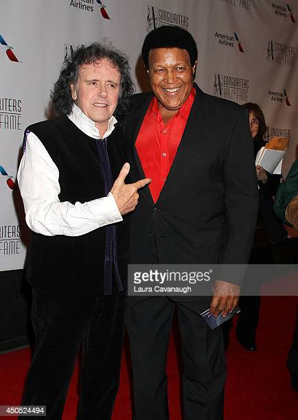 Donovan and Chubby Checker attend the 45th Annual Songwriters Hall Of Fame Induction And Awards Gala at The New York Marriott Marquis on June 12 2014...