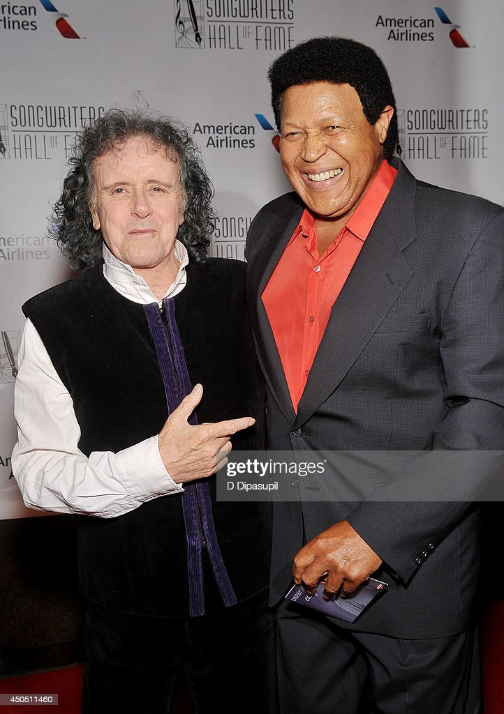 Donovan (L) and Chubby Checker attend the Songwriters Hall of Fame 45th Annual Induction and Awards at Marriott Marquis Theater on June 12, 2014 in New York City.