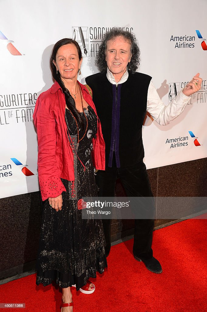 Donovan (R) and Linda Lawrence attend the Songwriters Hall of Fame 45th Annual Induction and Awards at Marriott Marquis Theater on June 12, 2014 in New York City.