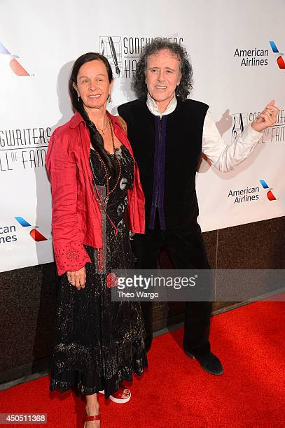 Donovan and Linda Lawrence attend the Songwriters Hall of Fame 45th Annual Induction and Awards at Marriott Marquis Theater on June 12 2014 in New...