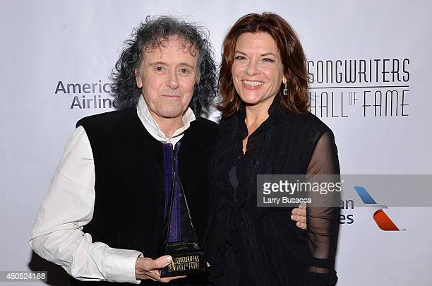 Donovan and Rosanne Cash attend Songwriters Hall of Fame 45th Annual Induction And Awards at Marriott Marquis Theater on June 12 2014 in New York City