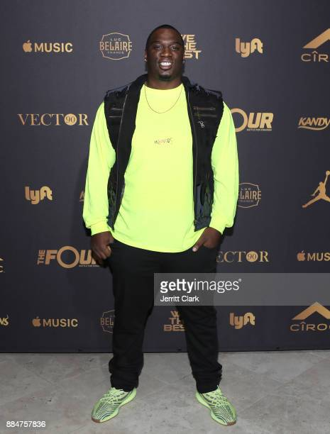 Donovan Carter attends The Four cast Sean Diddy Combs Fergie and Meghan Trainor Host DJ Khaled's Birthday Presented by CÎROC and Fox on December 2...