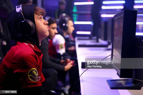 Donovan 'F2Tekkz' Hunt of Liverpool during day one of the 2019 ePremier League Finals at Gfinity Arena on March 28 2019 in London England