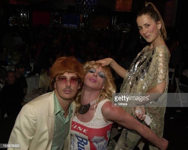 Donovan Leitch, Alexis Arquette & Anna Getty during GQ Lounge Karaoke Night at GQ Lounge in Los Angeles, California, United States.