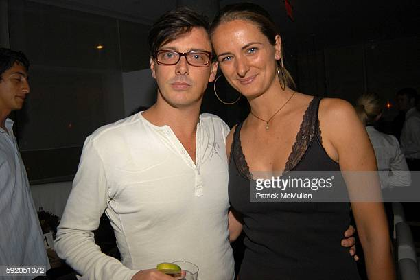 Donovan Leitch and Barbara Fourneau attend Gwen Stefani Dinner for LAMB at Perry Street on September 13 2005 in New York City