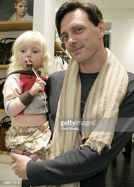Donovan Leitch and daughter during Club Monaco Hosts Cashmere and Cocktails at Club Monaco in Beverly Hills CA United States