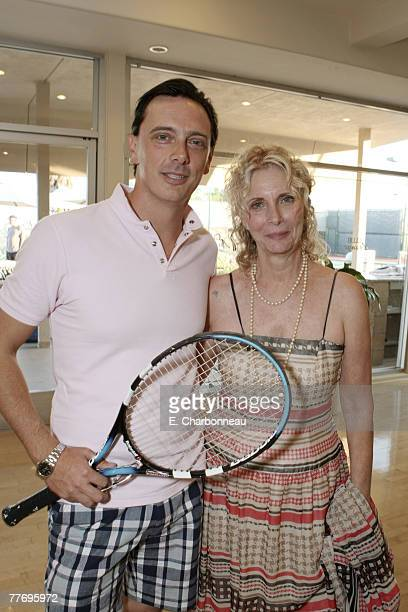 Donovan Leitch and mother Enid Karl at Donovan Leitch's 40th Birthday Party hosted by Hpnotiq held at The Muholland Tennis Club on August 16 2007 in...