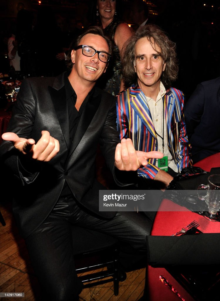 Donovan Leitch (L) attends the 27th Annual Rock And Roll Hall Of Fame Induction Ceremony at Public Hall on April 14, 2012 in Cleveland, Ohio.