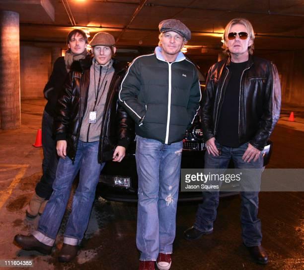Donovan Leitch Chris Chaney Matt Sorum and Billy Duffy of Camp Freddy with Cadillac Escalade