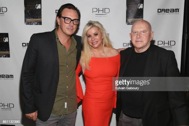 Donovan Leitch Gail Evertz and Mark Fleischman attend Mark Fleischman and Friends Celebrate Inside Studio 54 at PHD Rooftop Lounge at Dream Downtown...
