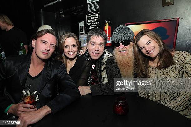 Donovan Leitch Kim Hilfiger Andy Hilfiger Billy Gibbons and Gilligan Stillwater attend the Andrew Charles Presents 'The Click Clack Boom' Hosted by...